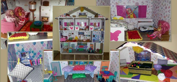 Wymarzony Domek dla Lalek – samodzielnie zrobiony prezent dla dziewczynki.