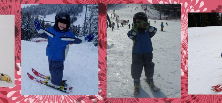 Jak nauczyć małe dziecko jazdy na nartach.